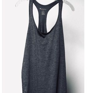 deology Charcoal Gray Tank Top, Long, Loose Fit XL